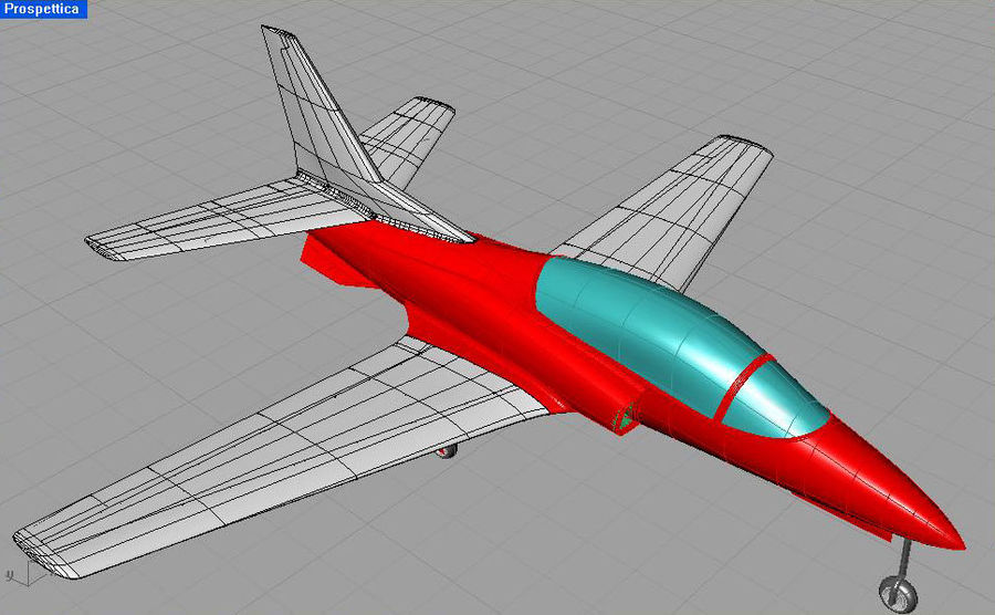 Viper jet royalty-free 3d model - Preview no. 27