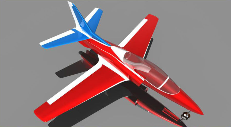 Viper jet royalty-free 3d model - Preview no. 1