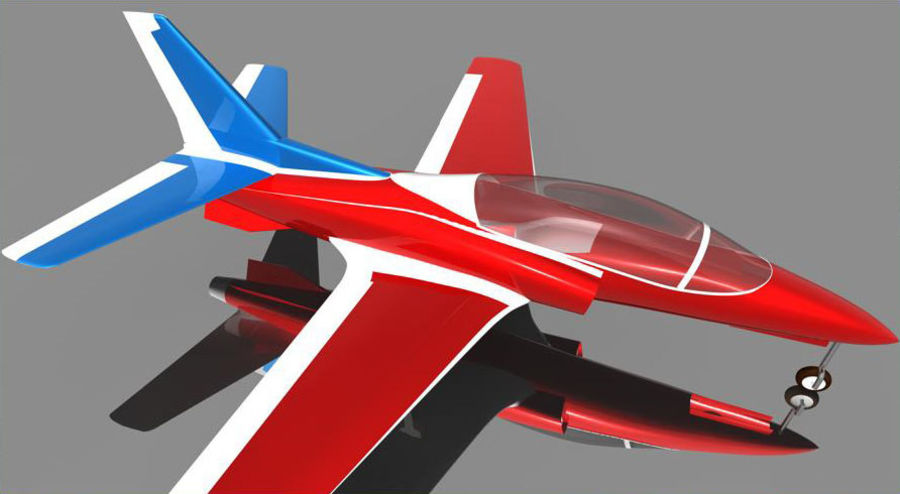 Viper jet royalty-free 3d model - Preview no. 5