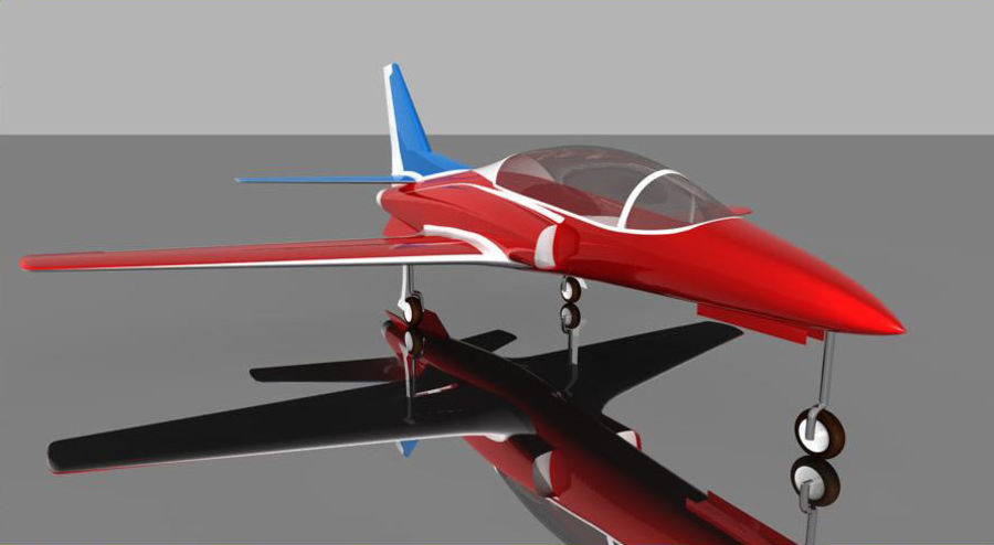 Viper jet royalty-free 3d model - Preview no. 2