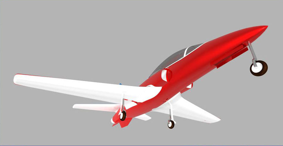 Viper jet royalty-free 3d model - Preview no. 9