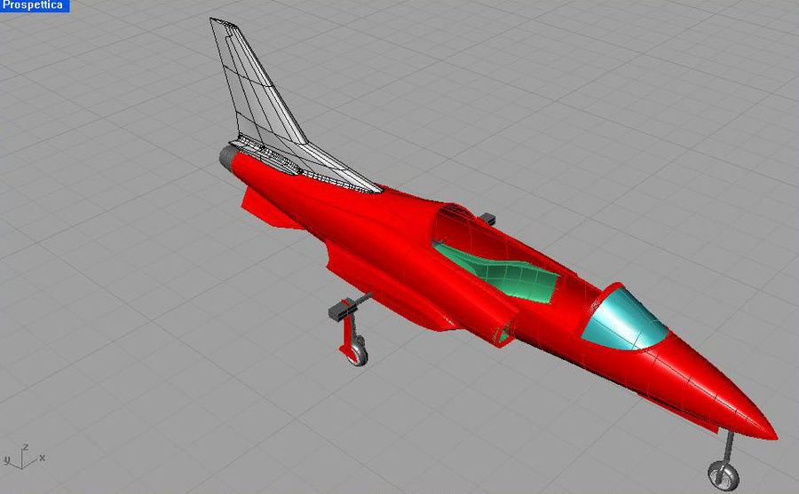 Viper jet royalty-free 3d model - Preview no. 31