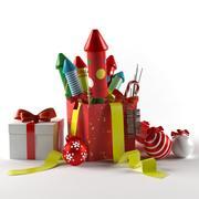 烟花和玩具 3d model