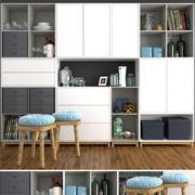 Gran armario con decoración. modelo 3d