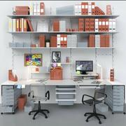 Office furniture and stationery 3d model