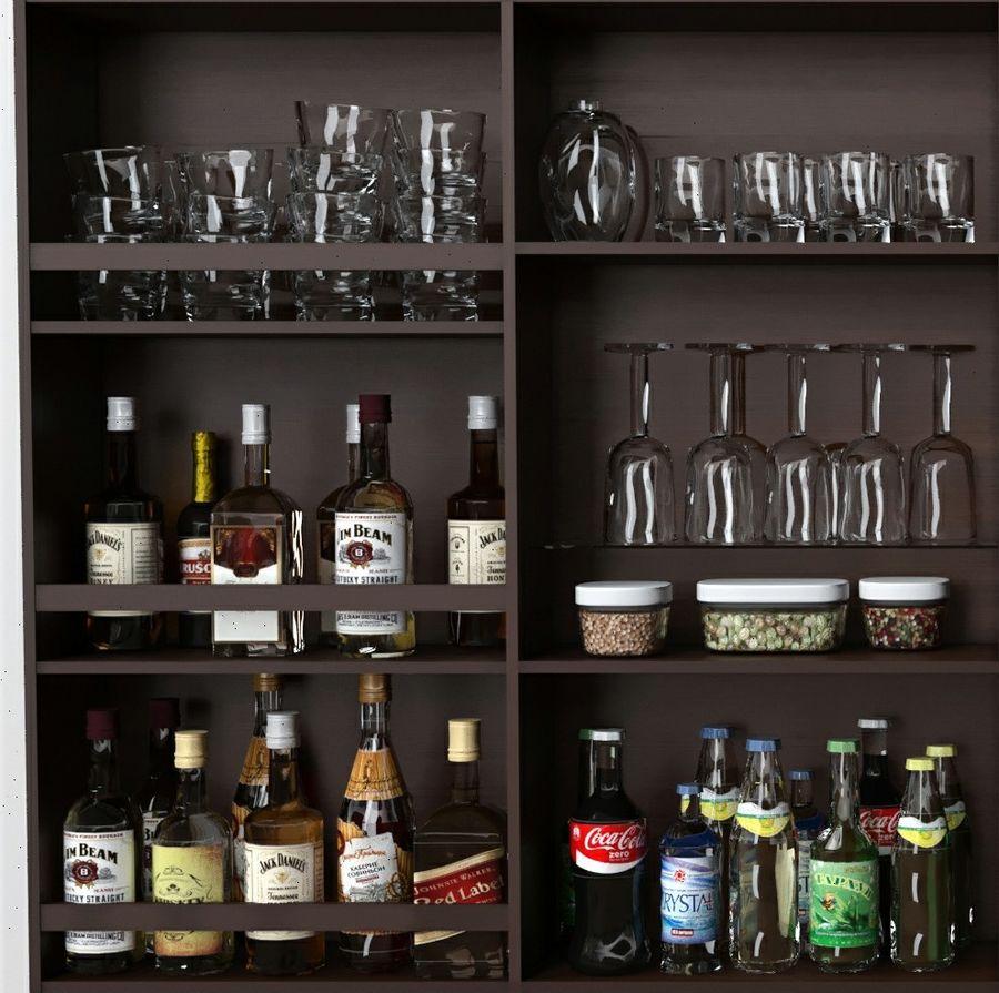 Bar med alkohol royalty-free 3d model - Preview no. 5
