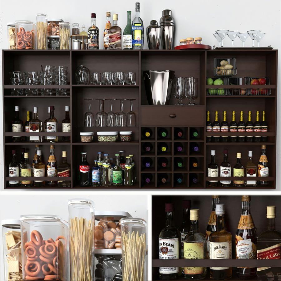 Bar med alkohol royalty-free 3d model - Preview no. 1