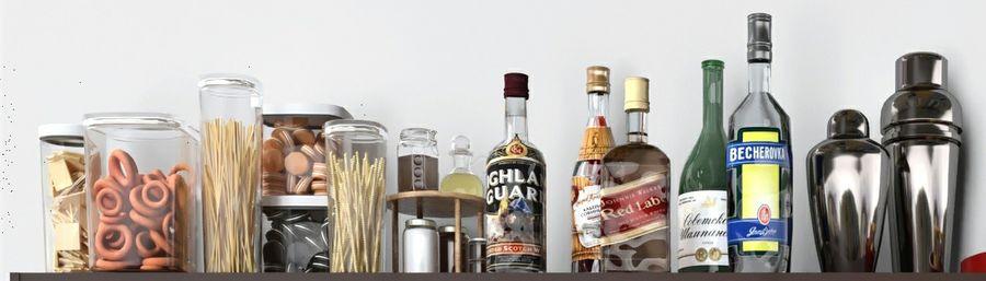 Bar med alkohol royalty-free 3d model - Preview no. 4