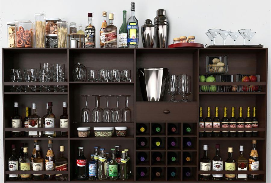 Bar med alkohol royalty-free 3d model - Preview no. 3