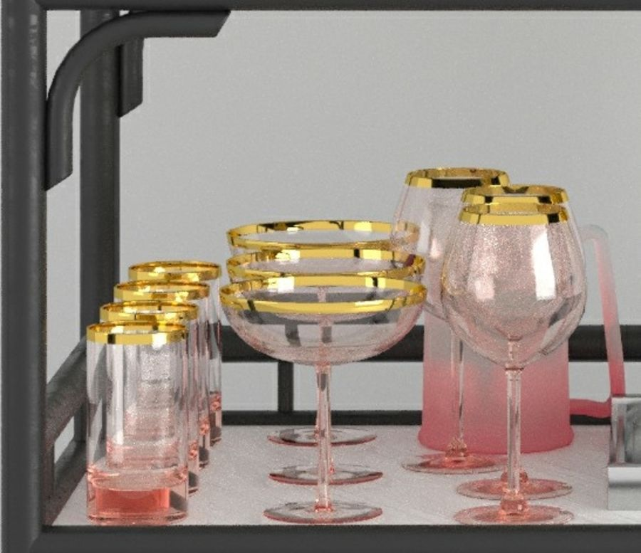 Bar med alkohol 2 royalty-free 3d model - Preview no. 4