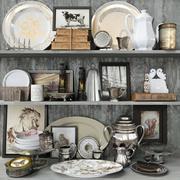 Коллекция мелочей для кухни 3d model