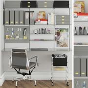 muebles y articulos de oficina 5 modelo 3d