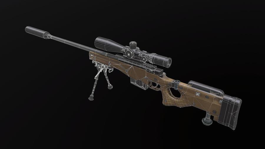 AWM AWP Sniper Rifle royalty-free 3d model - Preview no. 9