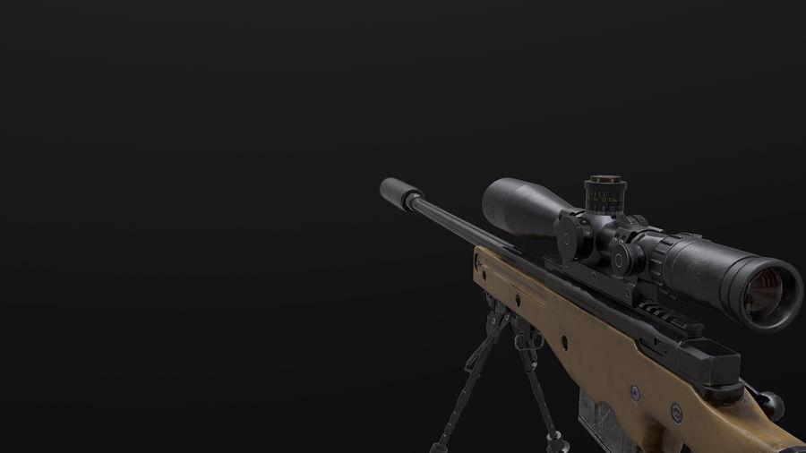 AWM AWP Sniper Rifle royalty-free 3d model - Preview no. 6