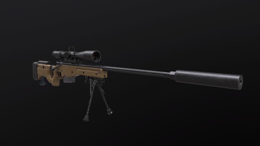 AWM AWP Sniper Rifle royalty-free 3d model - Preview no. 3