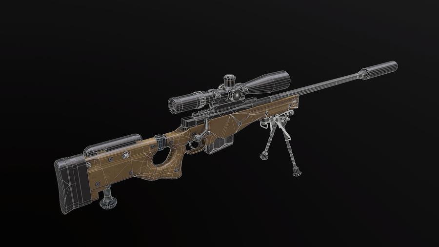 AWM AWP Sniper Rifle royalty-free 3d model - Preview no. 10