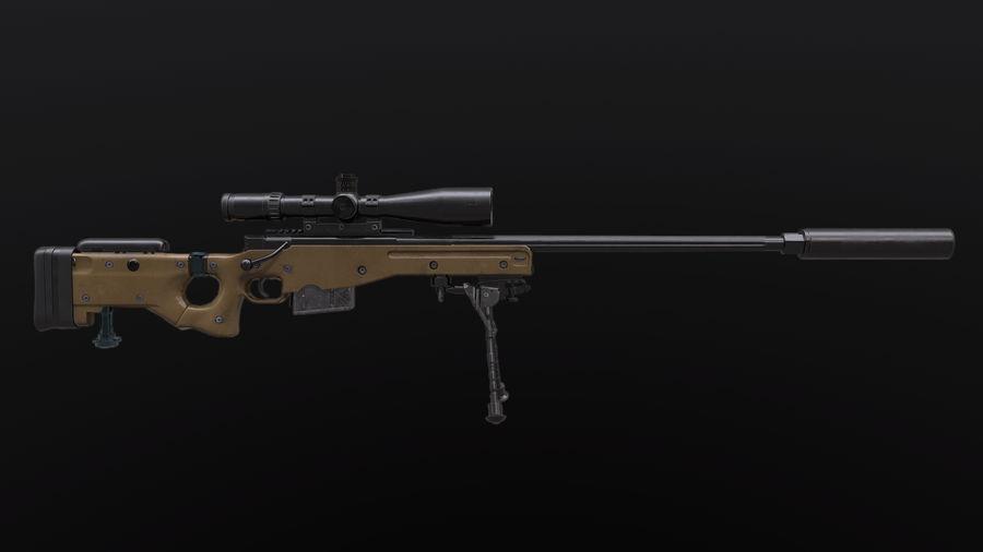 AWM AWP Sniper Rifle royalty-free 3d model - Preview no. 4
