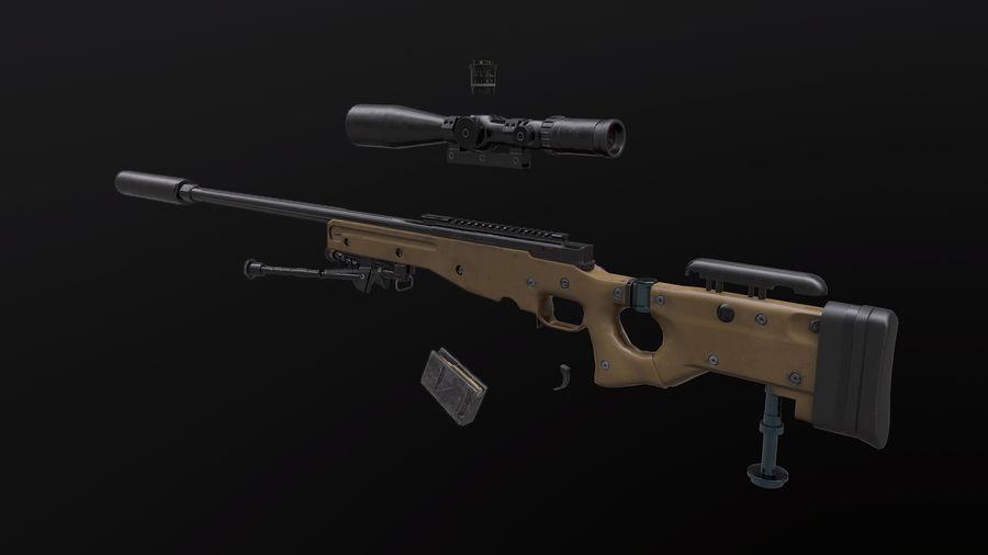AWM AWP Sniper Rifle royalty-free 3d model - Preview no. 8