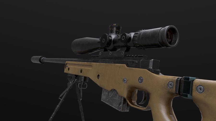 AWM AWP Sniper Rifle royalty-free 3d model - Preview no. 1