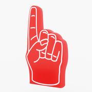 Espuma Mano Roja modelo 3d