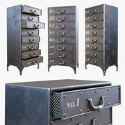 Iron Chest - Andre Iron Cabinet 3d model