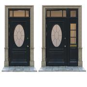 Ingång klassisk dörr 12 3d model