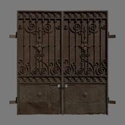Metal gate ornate 3d model