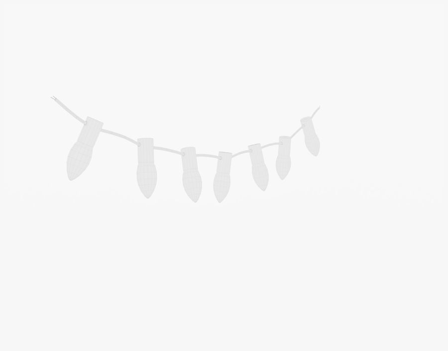 Holiday String Lights royalty-free 3d model - Preview no. 22