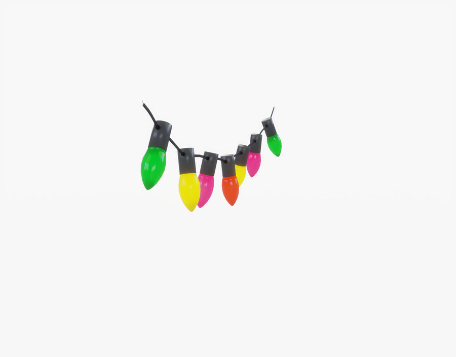 Holiday String Lights royalty-free 3d model - Preview no. 5