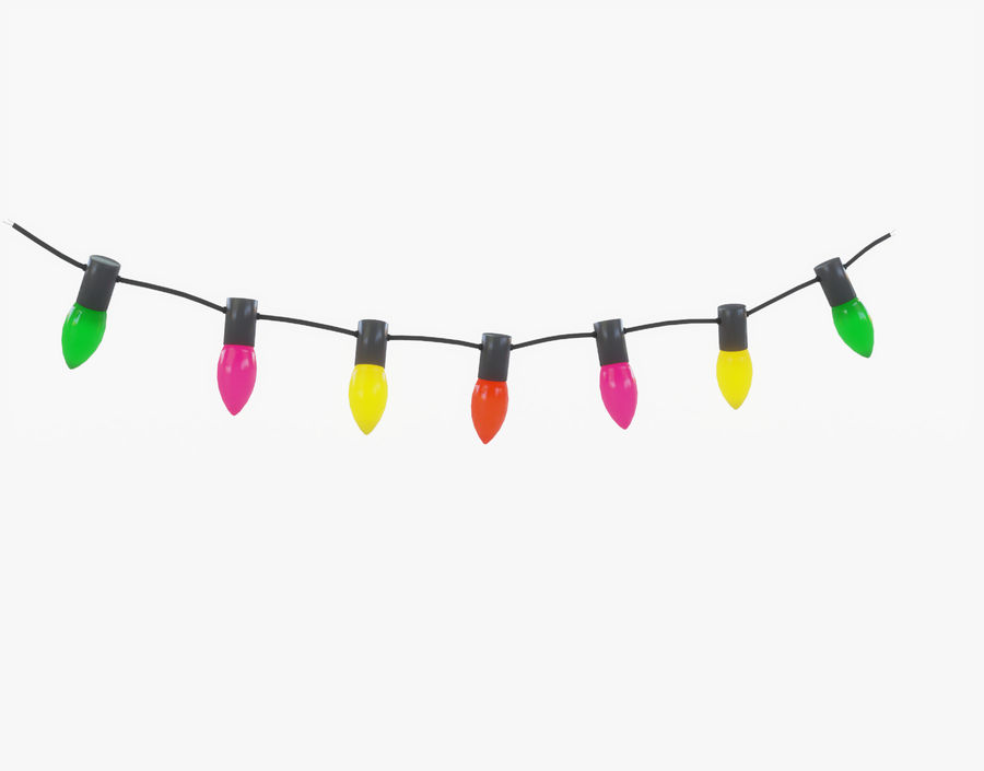 Holiday String Lights royalty-free 3d model - Preview no. 11