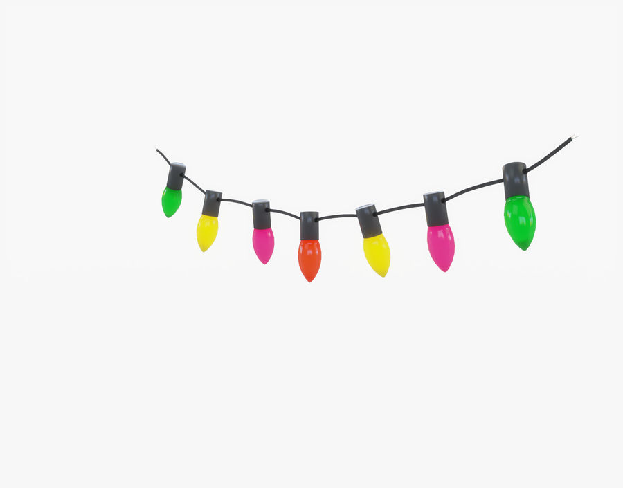 Holiday String Lights royalty-free 3d model - Preview no. 8