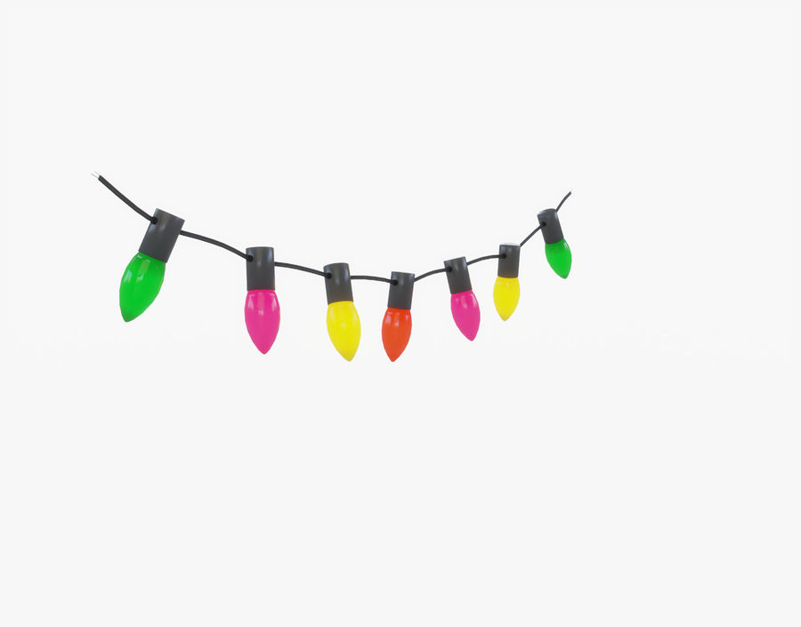 Holiday String Lights royalty-free 3d model - Preview no. 10
