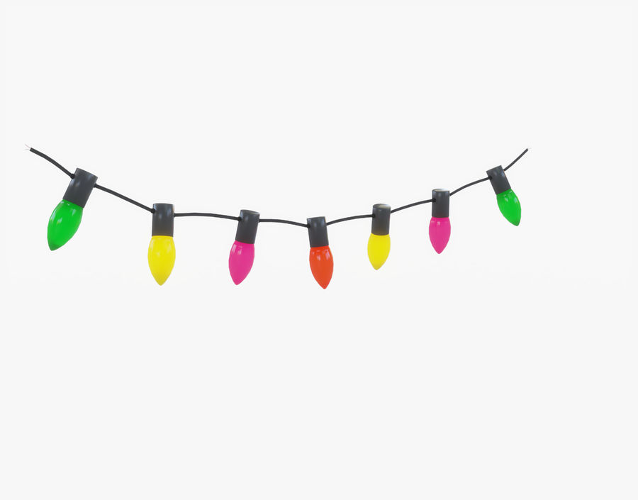 Holiday String Lights royalty-free 3d model - Preview no. 6