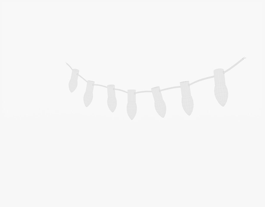 Holiday String Lights royalty-free 3d model - Preview no. 20