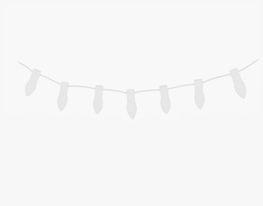 Holiday String Lights royalty-free 3d model - Preview no. 19