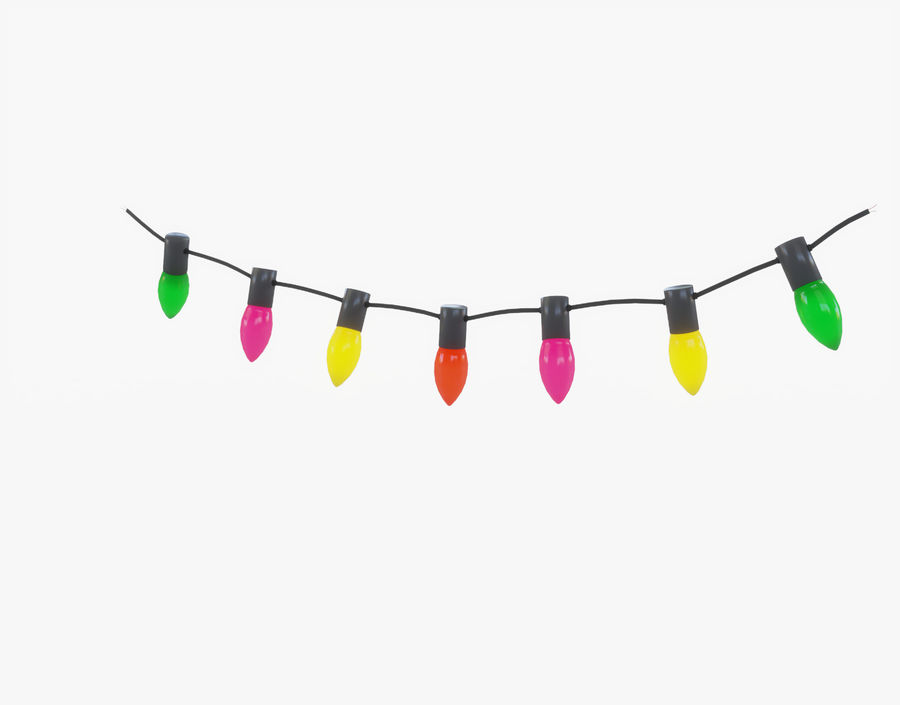 Holiday String Lights royalty-free 3d model - Preview no. 3