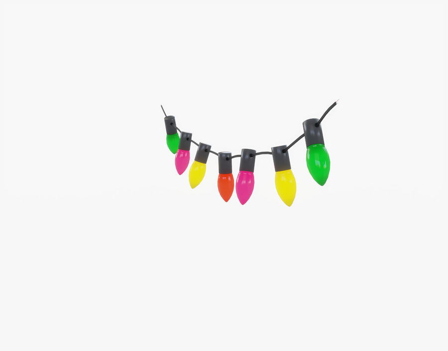 Holiday String Lights royalty-free 3d model - Preview no. 4