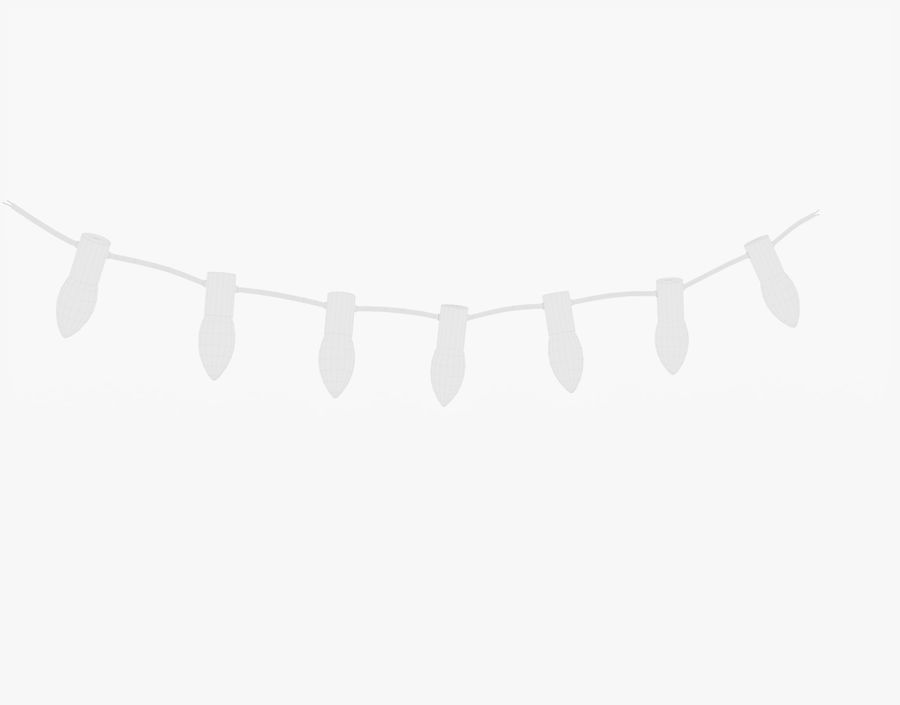 Holiday String Lights royalty-free 3d model - Preview no. 23
