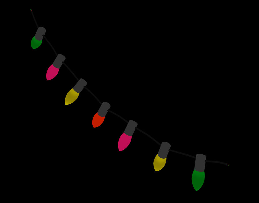 Holiday String Lights royalty-free 3d model - Preview no. 13