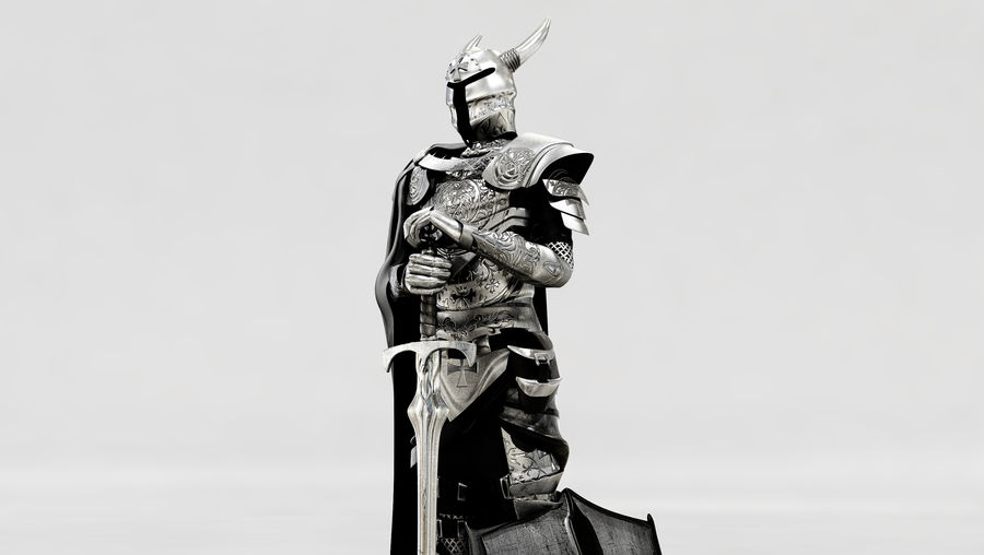 Knights Paladin Armor royalty-free 3d model - Preview no. 5