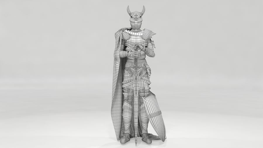 Knights Paladin Armor royalty-free 3d model - Preview no. 7