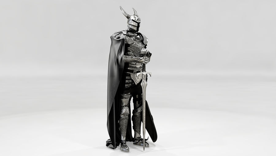 Knights Paladin Armor royalty-free 3d model - Preview no. 2
