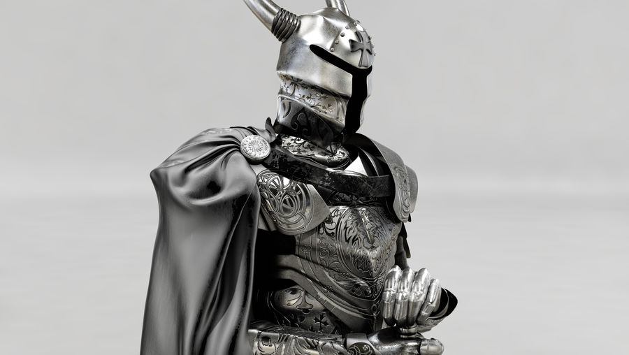 Knights Paladin Armor royalty-free 3d model - Preview no. 3