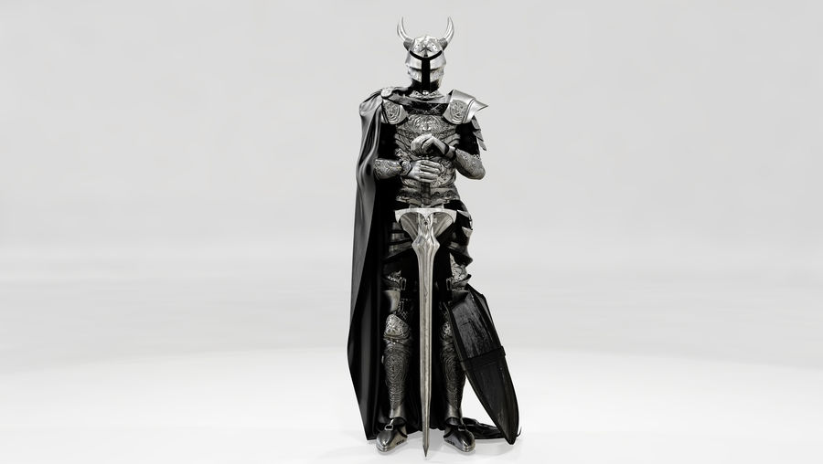Knights Paladin Armor royalty-free 3d model - Preview no. 4
