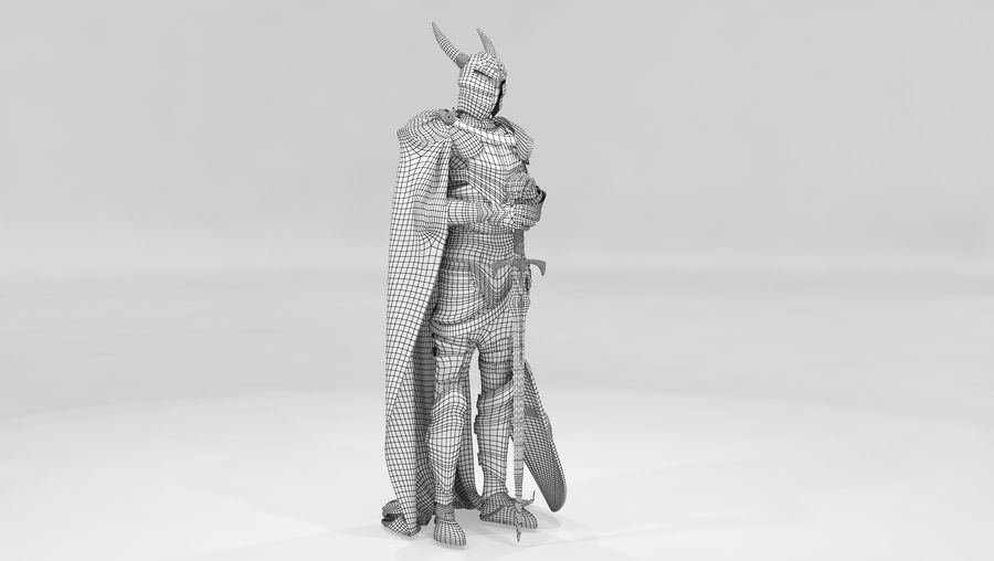 Knights Paladin Armor royalty-free 3d model - Preview no. 6