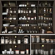 Curiosidades para os restaurantes de cozinha 3d model