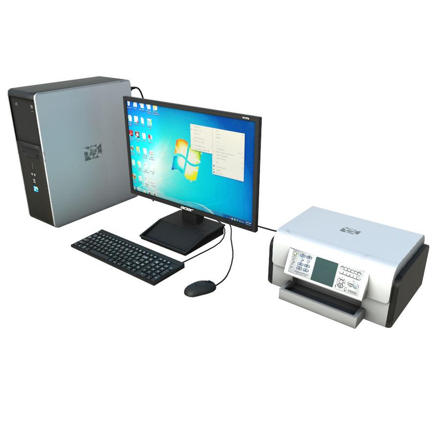 デスクトップコンピューター royalty-free 3d model - Preview no. 2