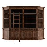Книжный шкаф для библиотеки 3d model