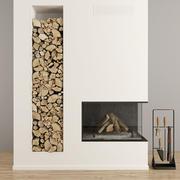 暖炉と薪38 3d model