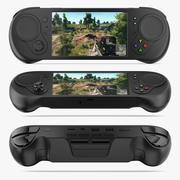 Spelkontroller och skärm 3d model